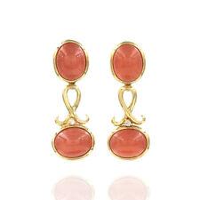 H. Stern Rhodochrosite & Diamond Earrings Featured in 18K Yellow Gold   JH