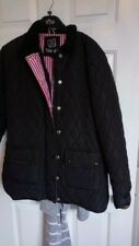 ladies Black Barbour Style Quilted Jacket Size 14