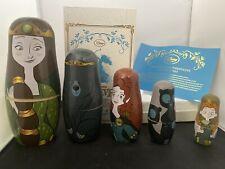 Disney Pixar Brave Merida Russian Wood Nesting Dolls Limited Edition 2,500