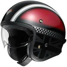 Shoei J-O Hawker TC1 Red Open Face Classic Cruiser Motorcycle Motorbike Helmet