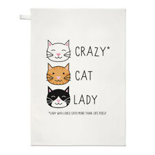 Crazy Cat Lady asciugamani Dish Cloth-gattino Funny