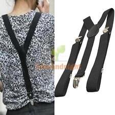 Brace Clip-on Unisex Pants Adjustable Elastic Adult Child Y-back Suspender New