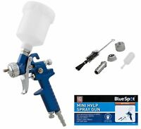 Bluespot Mini Touch Up HVLP Gravity Feed Spray Gun 125ml Cup With 0.8mm Nozzle