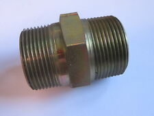 """Hydraulic Steel 1 1/4"""" Equal Male Threaded Straight Connector 1 1/4 FFS #23A240"""