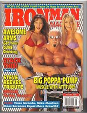 IronMan Bodybuilding magazine/Big Poppa Pump WWE/Linda O'Neil/Steve Reeves 8-00
