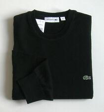 "Superbe Pullover Noir, neuf, Col rond, 100% coton ""Lacoste-Devanlay"" - T. 4 ou M"