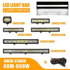 NOVSIGHT LED Work Light Bar Spot Flood Roof Driving Lamp Offroad Car ATV 660W