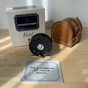 NEW in Box Hardy St George Jnr Reel with Leather Case Fly Fishing