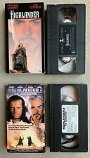Highlander - Highlander 2 The Quickening (VHS Movie Tape Lot)