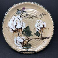Miller's Mud Mill Pottery Dish Hand Painted COTTON Arkansas Folk Art Signed