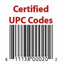 100 Piece UPC/ EAN Certified Bar-Code For Listing On eCommerce Amazon, Flipkart!