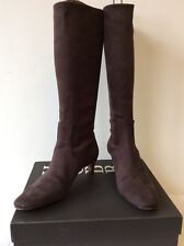 HOBBS CHERIE CHOCOLATE BROWN STRETCH BOOTS SIZE 5/38