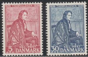 Denmak 1938 SC# 264, 266 - Bertel Thorvaldsen - Sculptor - M-H - Lot # 005