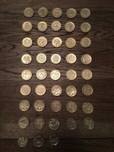 UK Complete Set of 43 x £1/One Pound Coins - 1983 to 2017- British Coin Hunt