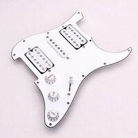 Precablato caricato chitarra elettrica Pickguard Pickups 11 Foro HSH Bianco HK