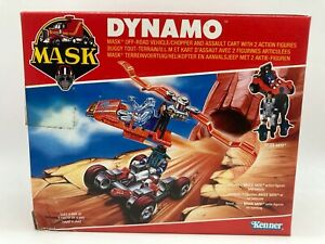 M.A.S.K Dynamo Vehicle & Figures Boxed Sealed Vintage MASK 1980s MISB Kenner Toy