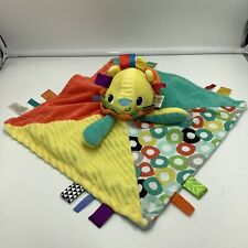 Taggies Bright Starts Lion Security Baby Blanket Plush Lovey Colorful