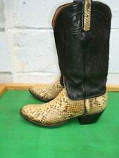 Lucchese 2000 Exotic  SnakeSkin Leather Western Cowboy Boots Men SZ# 8 D