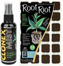 Root Riot 24 Cube and 100ML Clonex Mist Growth Technology