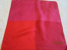 100% Silk 4 Panel Pocket Square, Colors Red, Apple,Watermelon,& Fuchia 16 X 16