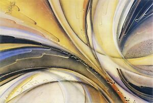 Modern Abstract Art with black wooden frame. Special Offer 90x60cm Top Quality