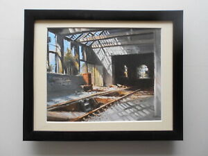 David Weston Steam Train print 'Dazzling Light' Groby FRAMED