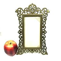"""Heavy Antique Brass Aesthetic Movement Picture Frame For 3.9"""" by 7.3"""" Photo"""