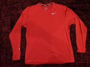Nike Long Sleeve Red Running Shirt - Men's X-Large (XL)