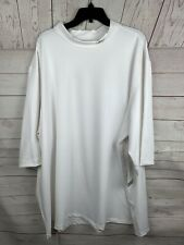 Nwt 4X Reebok Play Dry Short Sleeve Mock Turtleneck Athletic Top white Men's
