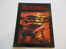 1989 Dodge Dakota Convertible Sales Flyer
