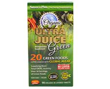 NEW NATURE'S PLUS ORGANIC ULTRA JUICE GREEN ENERGY MULTI-NUTRIENT VEGETARIAN