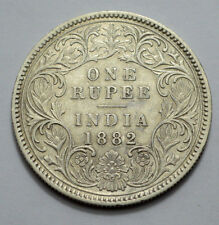 1882 CALCUTTA MINT BRITISH INDIA VICTORIA EMPRESS ~ ONE RUPEE ~ RARE COIN