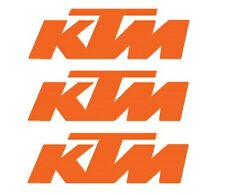 BRAND NEW KTM ORANGE DIE CUT DIE-CUT DECAL 5.75 x 1.5 INCHES 3 PACK  3X U6951279