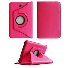 CASE FOR SAMSUNG GALAXY TAB 3 P3200 PINK PU LEATHER 360 DEGREE ROTATING COVER