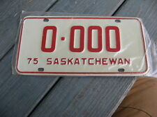 1975 75 SASKATCHEWAN CANADA CANADIAN SAMPLE LICENSE PLATE NICE TAG ORIGINAL