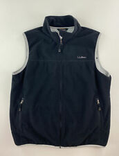 LL BEAN POLARTEC FLEECE VEST MENS LARGE BLACK , NEW