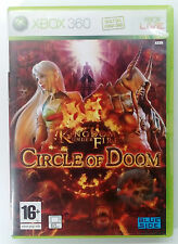 KINGDOM UNDER FIRE CIRCLE OF DOOM XBOX 360 EUROPEAN PAL USED GOOD CONDITION