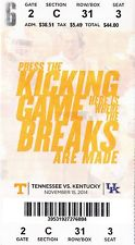 2014 TENNESSEE VOLS VS KENTUCKY WILDCATS TICKET STUB 11/15 COLLEGE FOOTBALL
