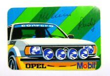 VECCHIO ADESIVO /Old Sticker Kebler RALLY 1979 OPEL ASCONA VERINI RUDY (cm 11x7)