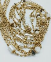 1928 Collection Multi Strand Beaded Chain Necklace