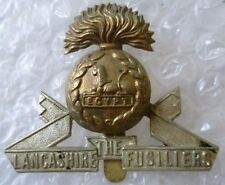 Badge- Lancashire Fusiliers Cap Badge (Bi-metal, Org) Slider