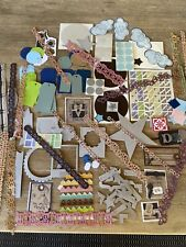 SCRAPBOOKING STICKERS HUGE LOT SHAPES BORDERS TAGS NEW USED