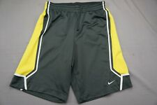 Nike Elite Sphere Dry Elastic Waist Athletic Shorts. Gray/Yellow/White, Men's M