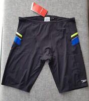 SPEEDO MENS Endurance+ Macca Jammer Size 18 90cm/36'' XL Black Blue Lime Surf