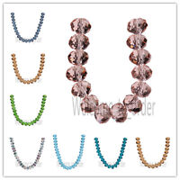 10Pcs 16MM Faceted Rondelle Findings Glass Crystal  Loose Spacer Beads 5040#