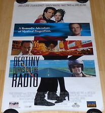 DESTINY TURNS ON THE RADIO 1995 ORIGINAL ROLLED DS 1 SHEET MOVIE POSTER