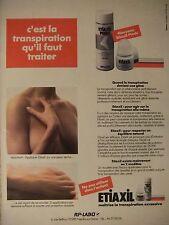 PUBLICITÉ PRESSE 1995 ETIAXIL MAITRISE LA TRANSPIRATION - SEINS NUS -ADVERTISING
