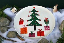 CRATE & BARREL CHRISTMAS TREE SERVING PLATTER –NWT– THE PLATTER OF LITTLE TREATS