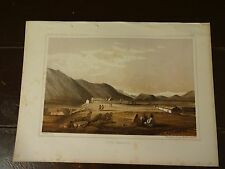 """Lithograph of """"FORT OKINAKANE"""" /John Mix Stanley /1860 Railroad Survey Report"""