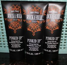 Lot of 3 - BED HEAD tigi Rockaholic PUNKED UP Strong Hold Gel 6.76 fl.oz - NEW